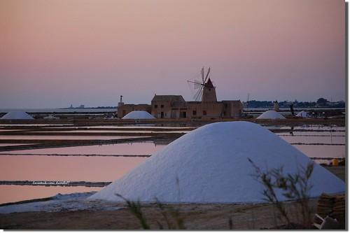 tramonto saline sicilia trapani marsala virgiliocompany grammaticaitalianabellaesconosciuta