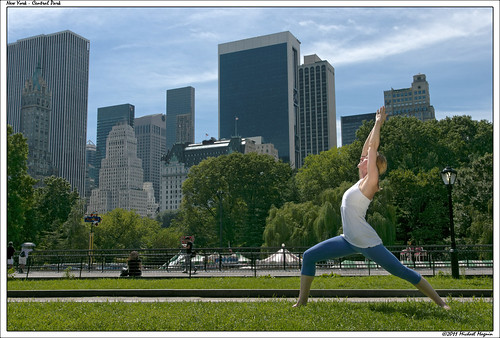 Yoga photo session in Central Park