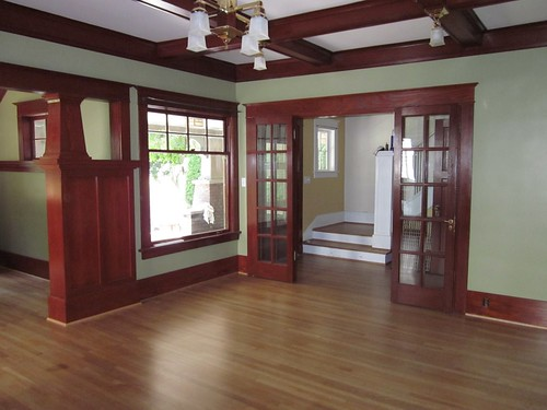 Restored Living Room Facing Porch