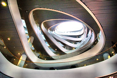 symmetry(0.0), sport venue(0.0), wheel(0.0), fisheye lens(0.0), escalator(0.0), circle(0.0), spiral(1.0), light(1.0),