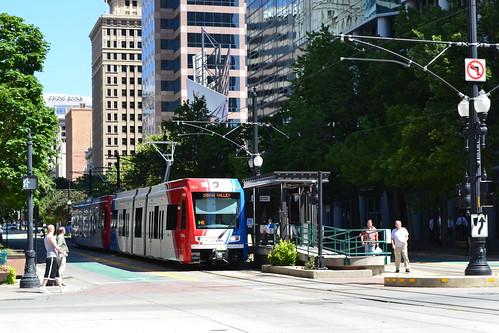 Green Line Trax at Gallivan Plaza by Garrett on Flickr