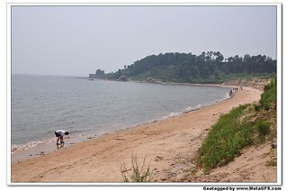 صورة Shanhaiguan seaside شاطئ بطول 1261 متر. beidaihe 河北 2011年8月北戴河
