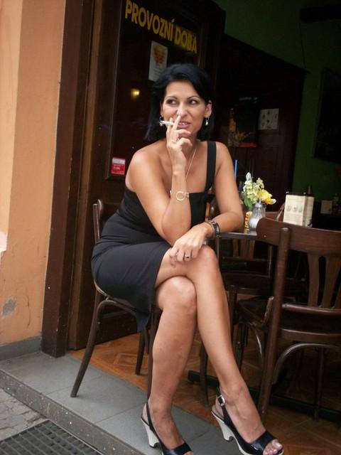 Flickr mature woman smoking
