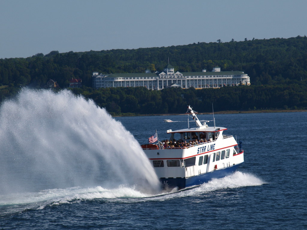 Mackinaw Island Ferry and The Grand Hotel . . .