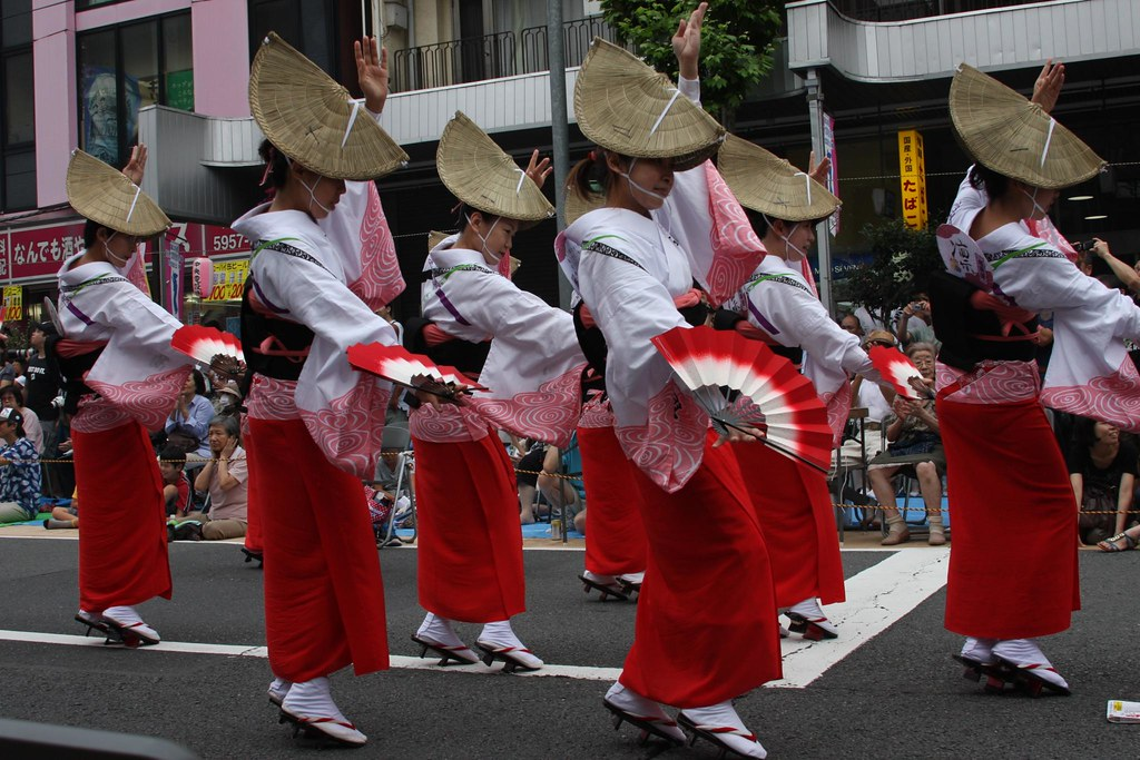Awa dancers