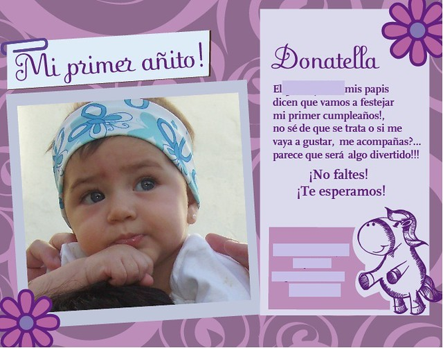 Tarjetas de cumpleaños de mi primer añito Imagui