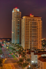 St Pete Condos at Night