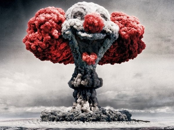 Clown Mushroom Cloud   Nobody Died at the war zone——the ...