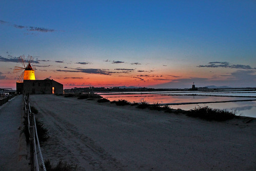 sunset panorama color colour reflection mill water landscape tramonto colore sale salt sicily acqua riflessi saline saltflats sicilia paesaggio mulino marsala canon550d