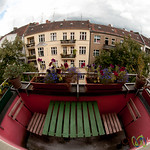 Neukölln Balcony, Fisheye View - Berlin, Germany