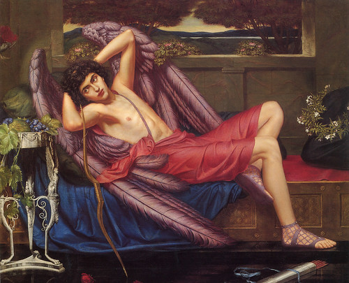 "Sidney Harold Meteyard (English 1868-1947), ""Eros"", ""Love in Idleness""or ""Icarus"""