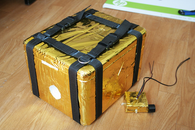 czANSO payload box with protection gold foil