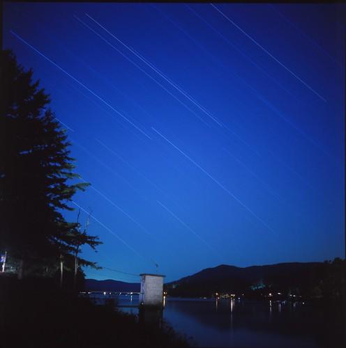 Star Trail at Great Sacandaga Lake