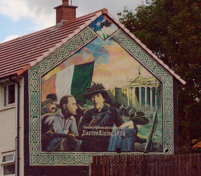 Easter rising 1916 incredibly colourful and seething for Easter rising mural