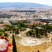 Ponyo and the View from Acropolis of Athens, Greece