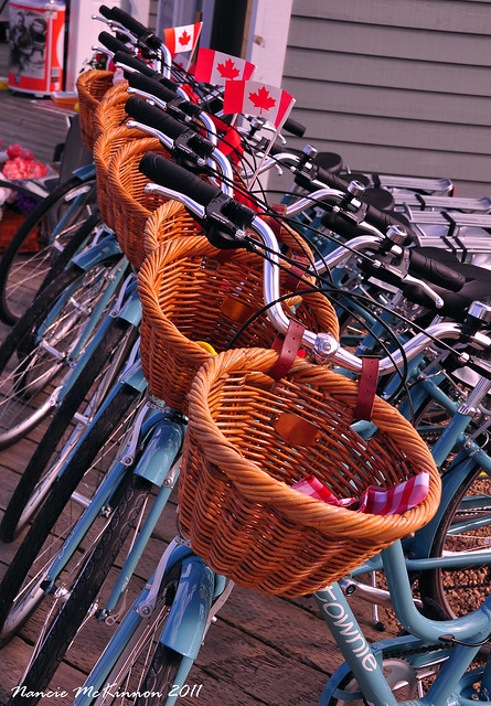 Bicycles on the Halifax Waterfront