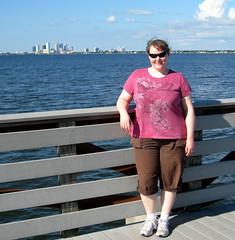 Tampa - Ballast Point Park - Erin On Fishing Pier