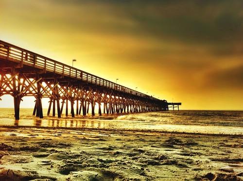 ocean travel summer beach sunrise dawn myrtlebeach pier southcarolina iphone tiltshift i365 iphone4 juxtaposer iphoneography cameraplus