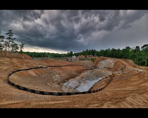 sky storm clouds landscape nc construction hole dam tripod northcarolina dirt hdr gitzo winstonsalem gravel photomatix salemlake 7exposure arcatech gt2531 nikonafsnikkor1635mmf4gedvr