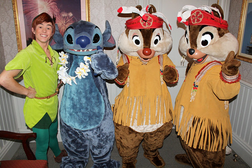 Peter Pan, Stitch, Chip and Dale