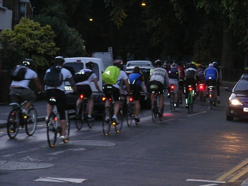 Dunwich Dynamo cycle ride, July 2011. Hackney E5