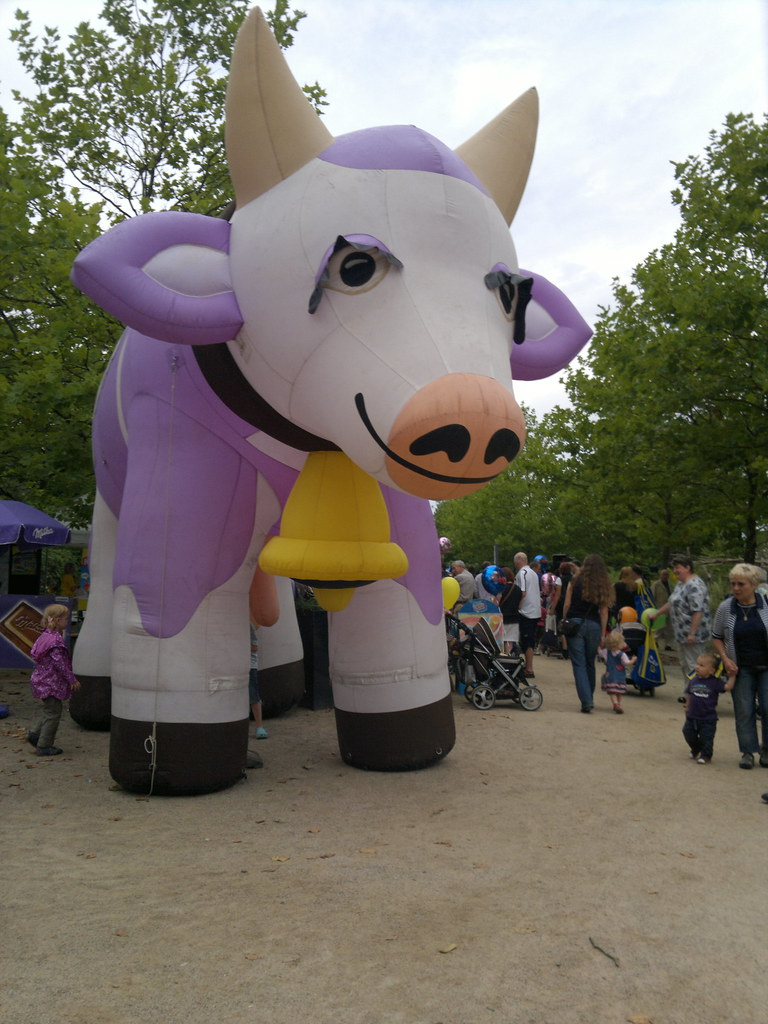 21st August 2011 giant inflatable Milka Cow aqua magica ...