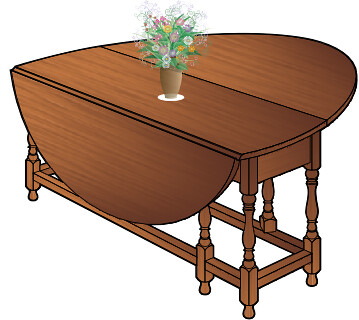 Gateleg Table walnut with flowers 320 | Flickr - Photo Sharing!