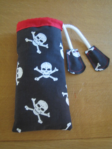 Skulls phone glasses pouch by Gemma_Day