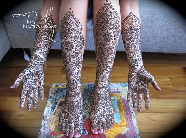 Nina's henna for Burning Man
