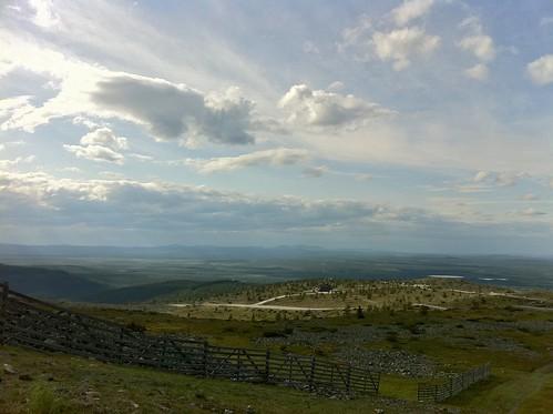 fence finland landscape horizon lapland levi fell levitunturi kittilä sirkka levifell
