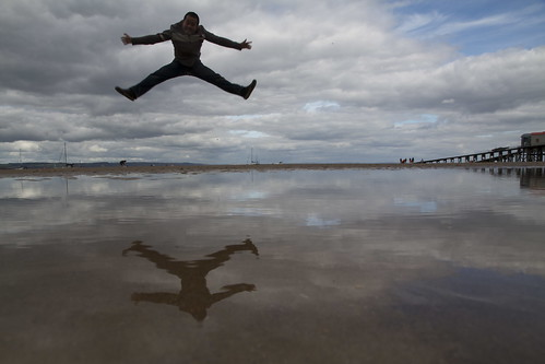 travel summer sky man motion reflection tourism beach wet water silhouette wales clouds speed landscape puddle flow coast flying high jump sand wind cloudy body air cymru floating august tourist symmetry stop dramaticsky pembrokeshire tidal tenby bankholiday recent touring wetland stopmotion waterreflection sandybeach flyingman upintheair sirbenfro dinbychypysgod wetreflection 大 maybemaq the4elements southwestwales colorphotoaward tidalland summerbankholiday 士 blinkagain highandwet