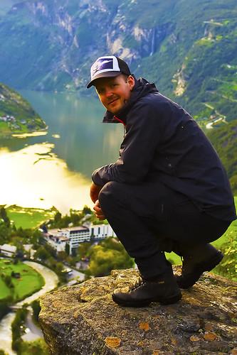 sunset portrait me smile fuji caps cap finepix fujifilm fjord audun geiranger x100 fujiguys drømmereiser
