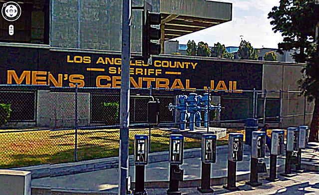 Payphones, Los Angeles County Sheriff, Men's Central Jail, Bauchet & Vignes, 429 Bauchet St., Los Angeles, CA 90012 34.059004, -118.232196, enhanced