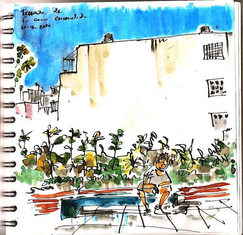 De vuelta con el cuaderno en la terraza de la casa encendida for Terraza la casa encendida precios