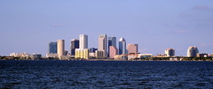 Tampa - Ballast Point Park - Downtown Tampa Skyline Across Hillsborough Bay (2)