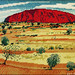 Needlepoint of Ayers Rock - Artist Unknown