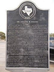 Photo of Joseph M. Pound black plaque