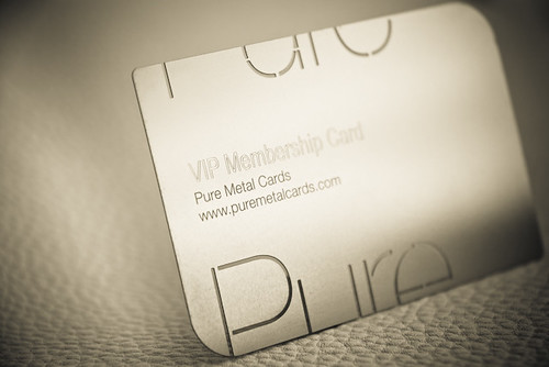 VIP Membership metal business card