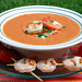 Spicy Gazpacho with Grilled Shrimp