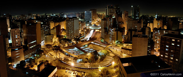 Vale do Anhangabaú by Night