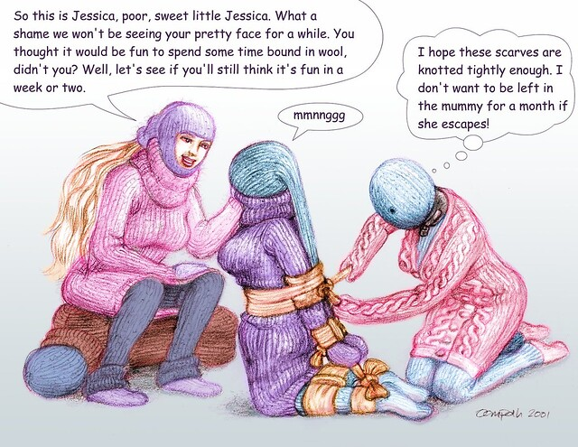 Fetish mummification drawings est