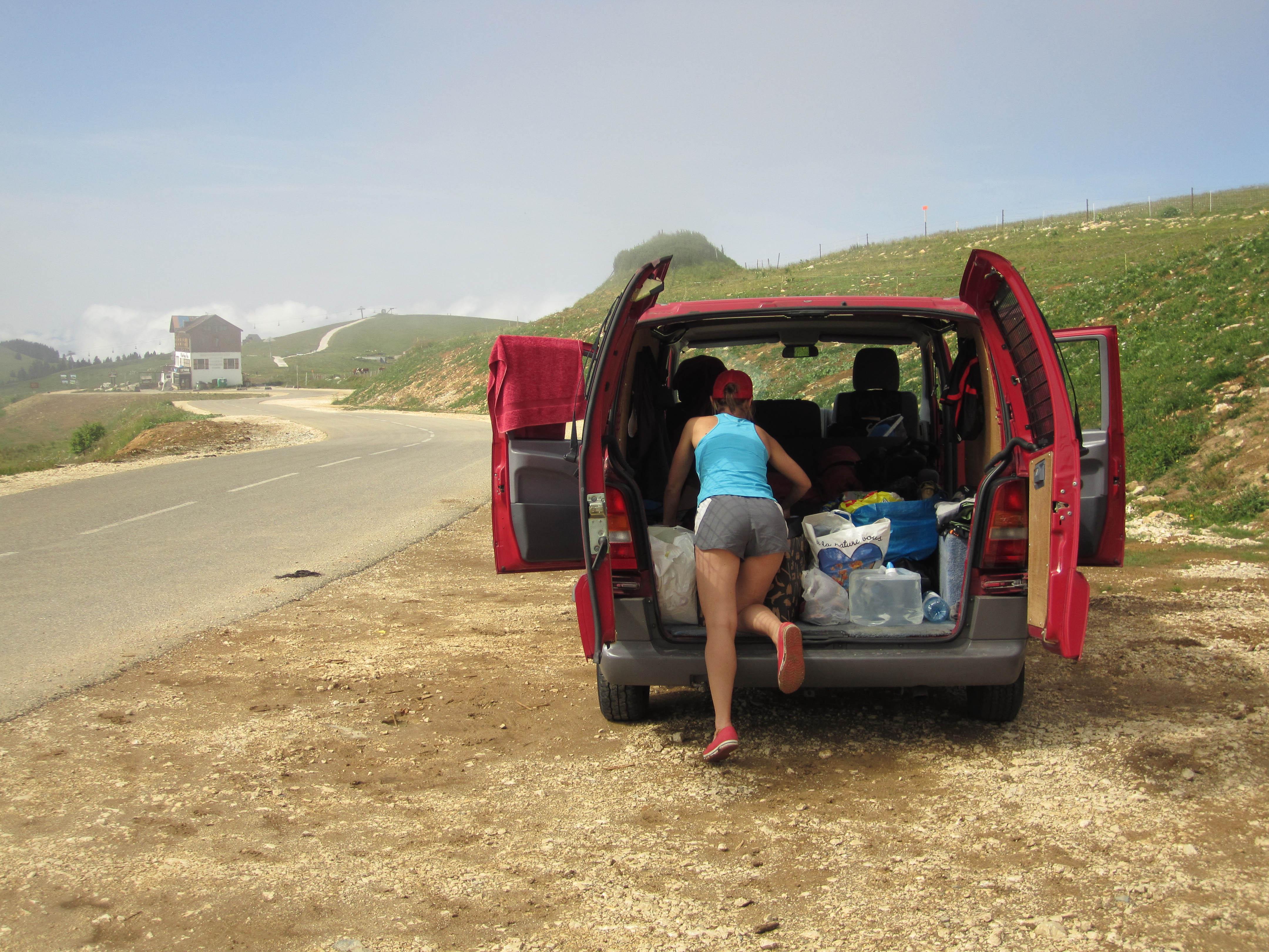 High altitude camp spot.