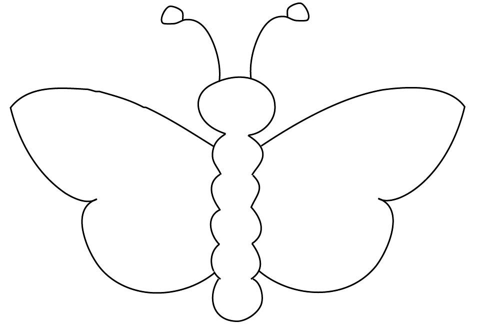 Butterfly Outline Free Butterfly Outline Suitable For