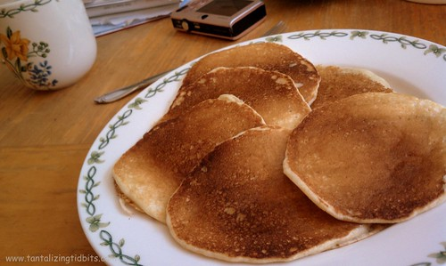merri's mother makes perfect looking pancakes