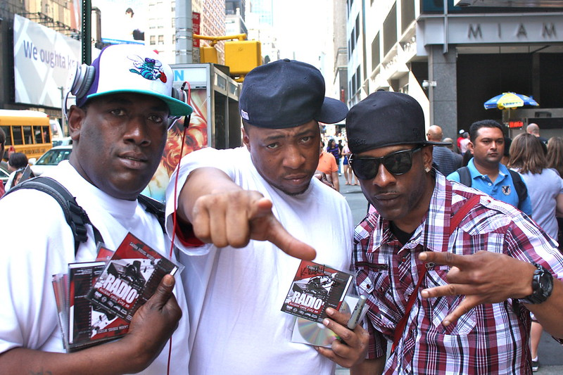 Timbo King and friends in Times Square