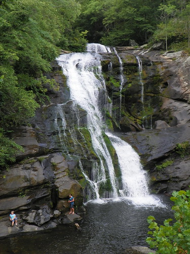 water swimming river waterfall rocks