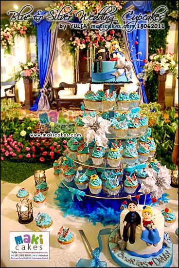 Blue Silver Superman Wedding Cupcakes Maki Cakes