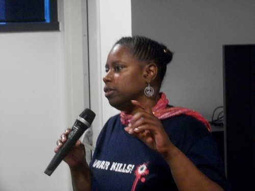 Cynthia McKinney, former US Congresswoman and presidential candidate in 2008, delivered the keynote address at the Detroit meeting to oppose the US-NATO war against Libya. (Photo: Abayomi Azikiwe) by Pan-African News Wire File Photos