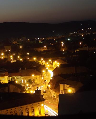 city night buildings transylvania longtimeexposure mures casr fujifilmfinepixs2950