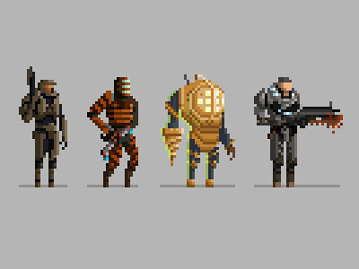 Pixel Video Game Characters Flickr Photo Sharing